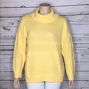 CJ Banks NWT 1X 16/18W Yellow Turtleneck Sweater
